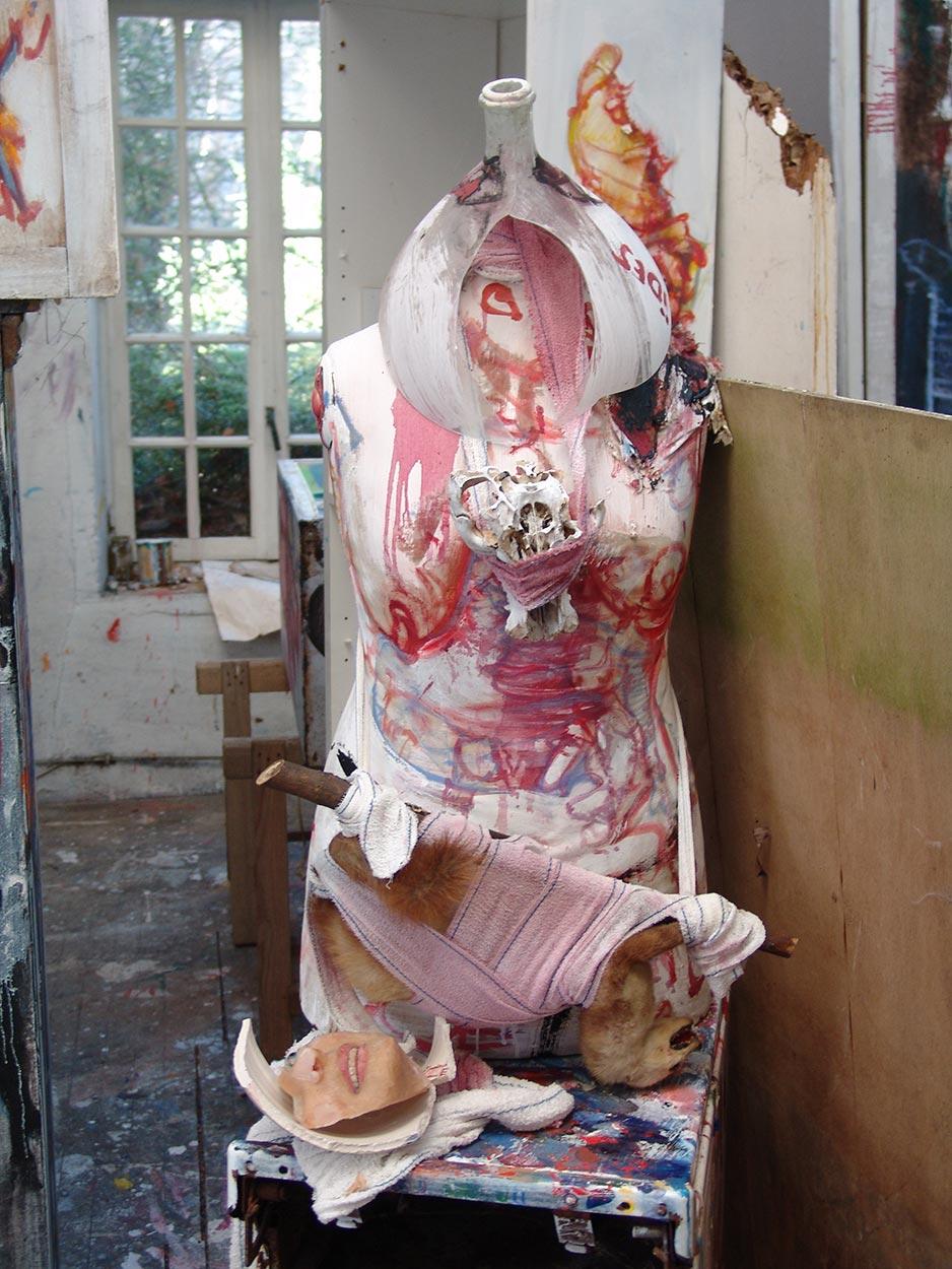 Sculpture at Dado's studio in 2009