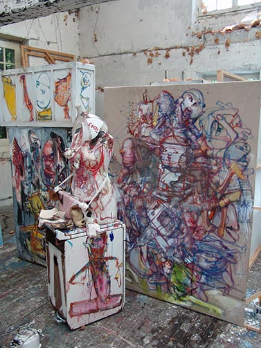 Dado's studio in May 2009
