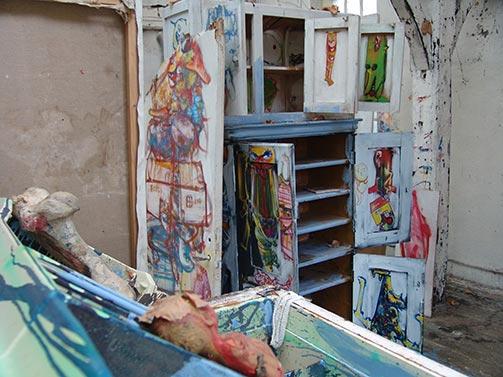 Dado's studio in November 2009.
