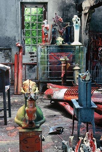 Sculptures at Dado's studio in 1989.