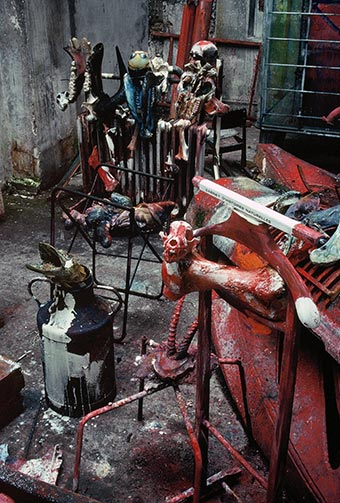 Sculptures at Dado's studio in 1989.