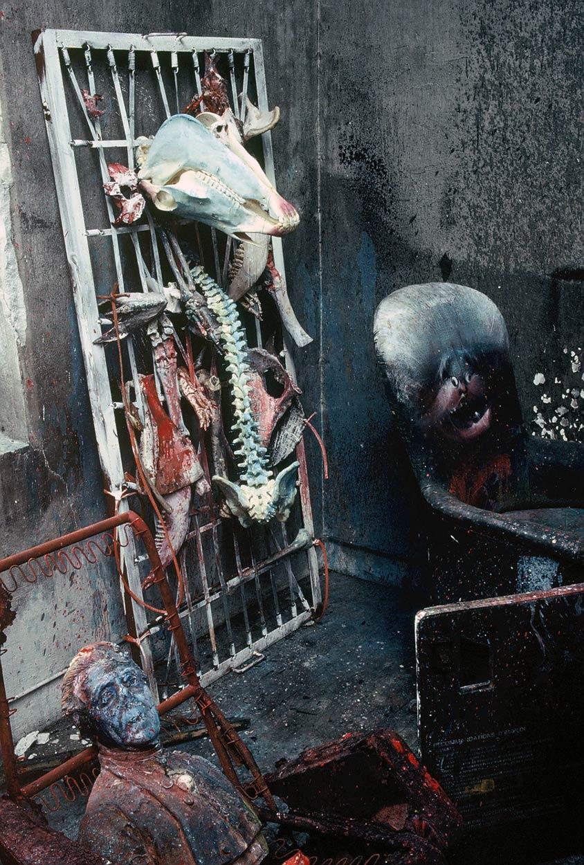 Sculptures at Dado's studio in 1989