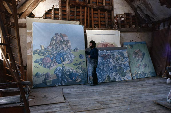 Dado at his studio in 1970