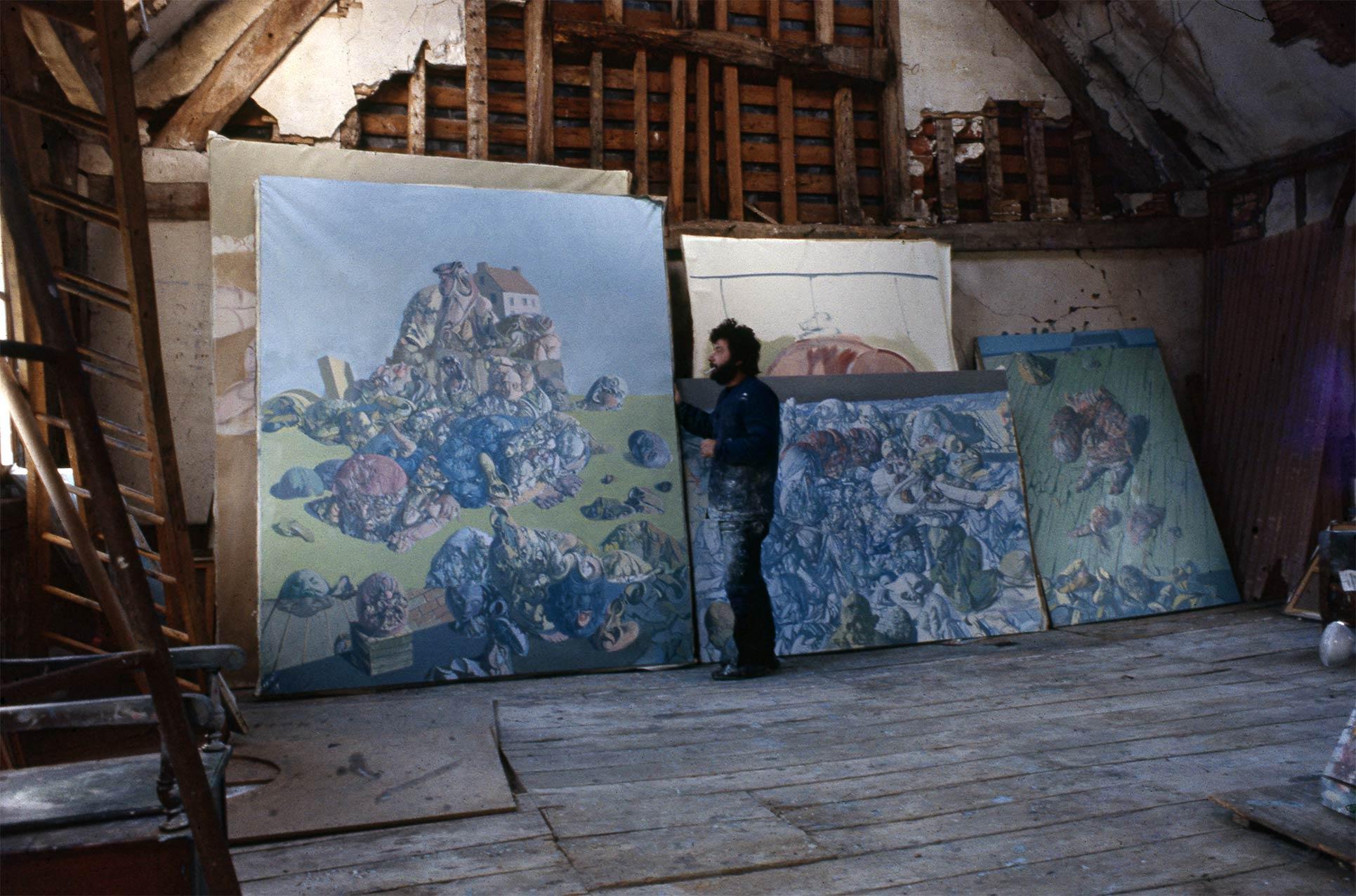 Dado at his studio in 1970