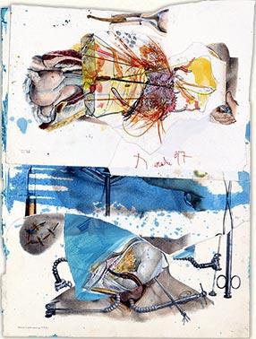 Bez naslova, kolaž, 1997