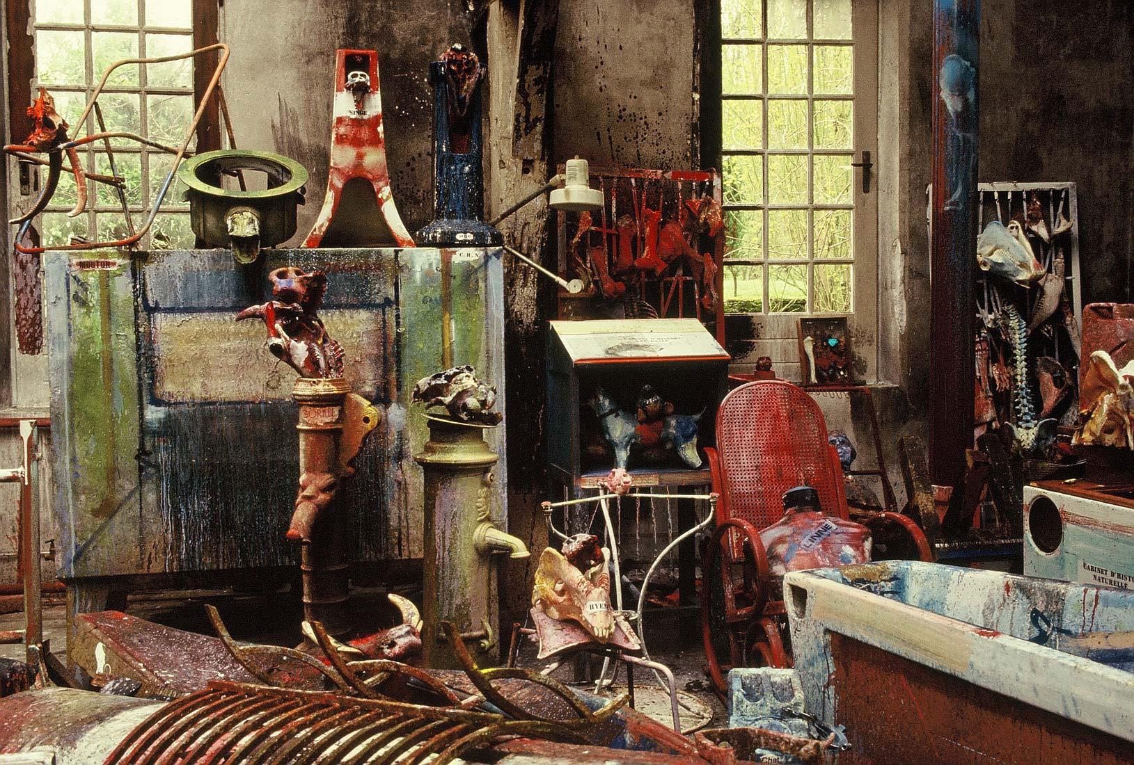 L atelier de dado apr s l incendie de 1988 l anti mus e - Atelier artiste peintre ...