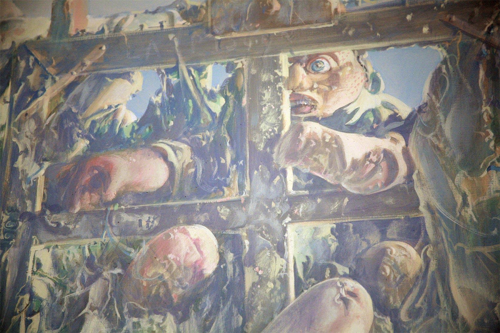 Dado's painting: The Studio, 1972 (detail)