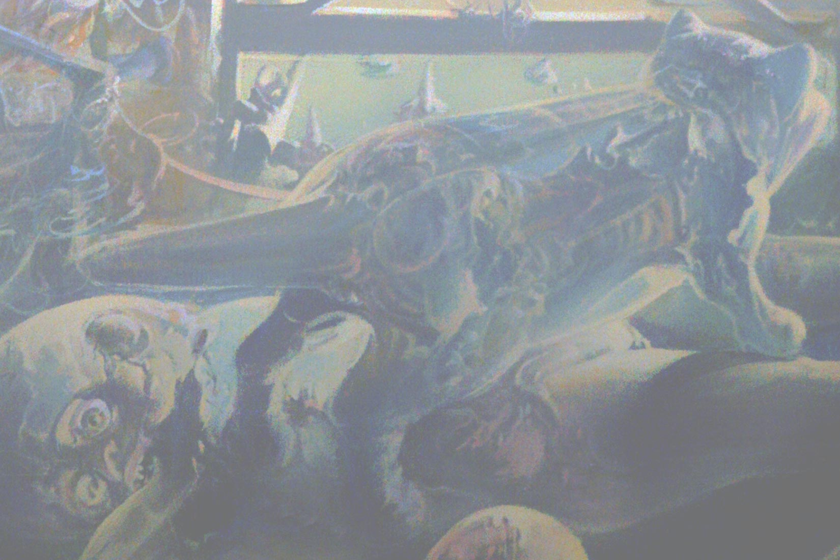 Dado's painting: The Studio, 1972 (detail)