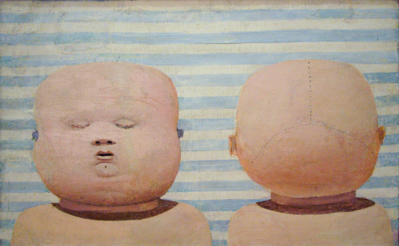 Dado's painting: Adam and Eve, 1954