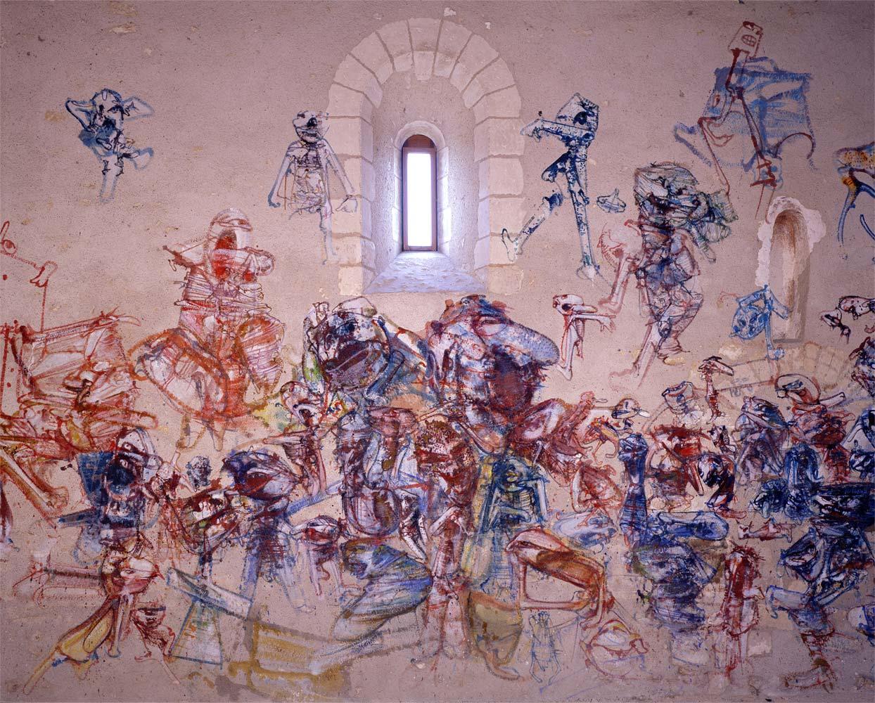 La chapelle saint luc peintures murales l anti mus e for Piscine de la chapelle saint luc