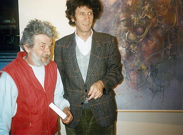 Dado (Miodrag Djuric) and Danilo Kiš