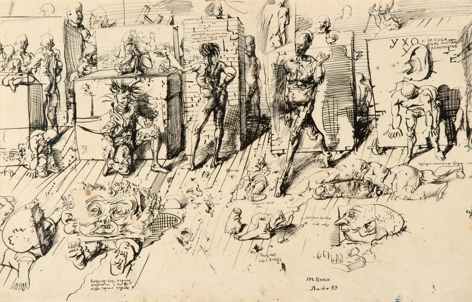 Dado's drawing: The Studio, 1959