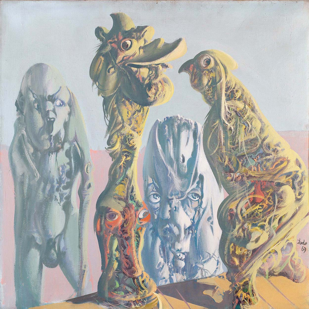 Dado's painting: The Gallery of Ancestors, 1969