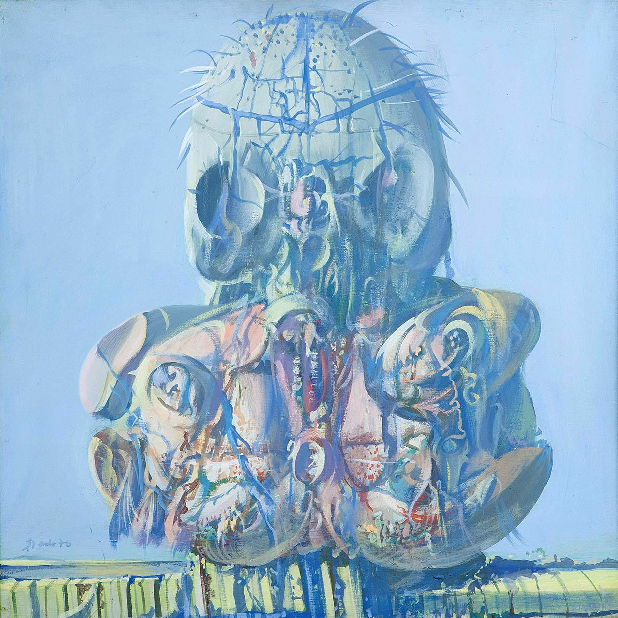 Dado's painting: The Gallery of Ancestors V, 1970