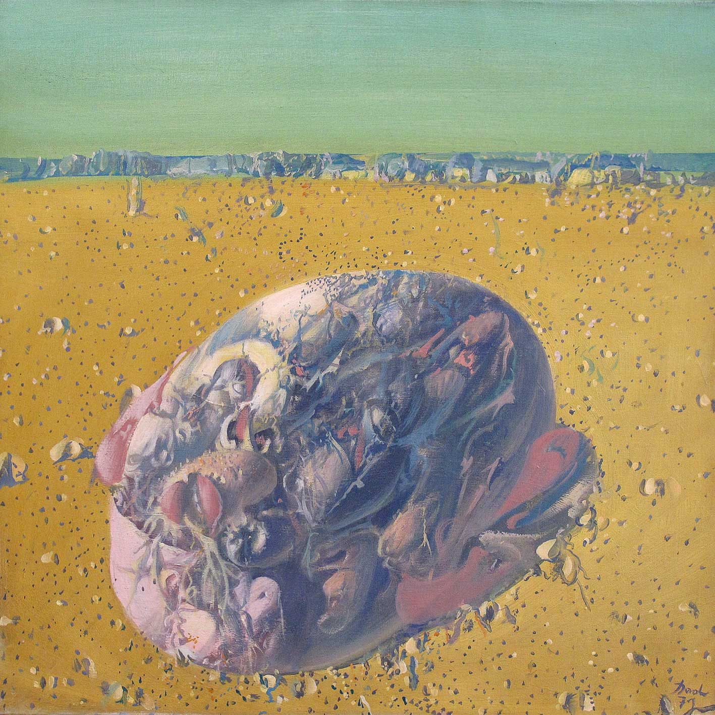 Dado's painting: The Gallery of Ancestors XXI, 1971
