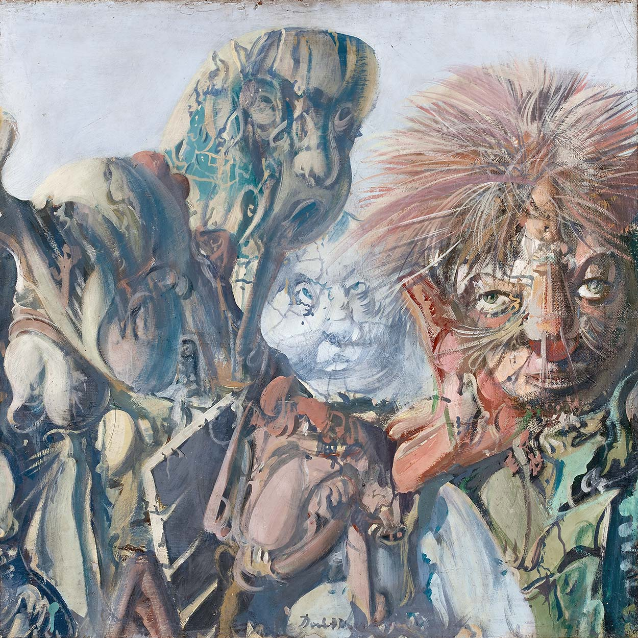 Dado's painting: The Gallery of Ancestors XV, 1970