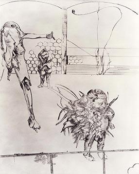 Print by Dado: Rhinoceros II