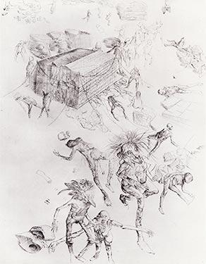 Print by Dado: Cemetery
