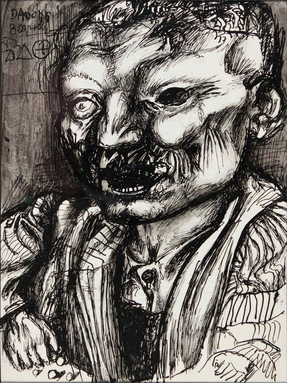 Dadov crtež: Portret Muškarca, 1956