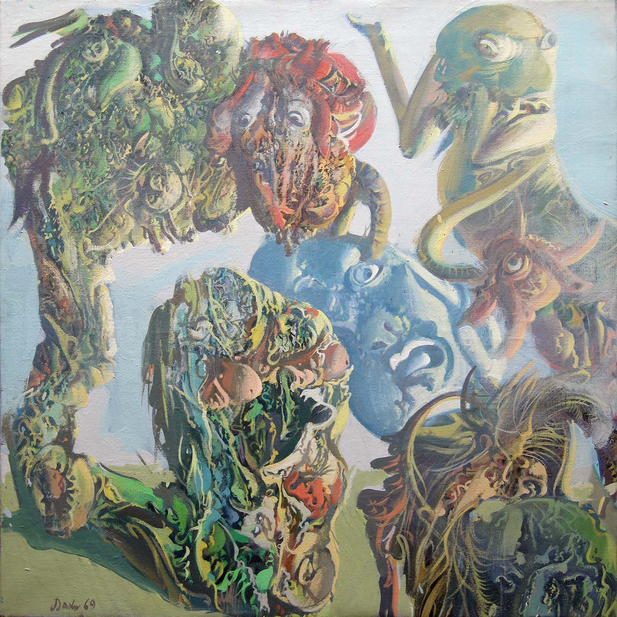 Dado's painting: Untitled, 1969