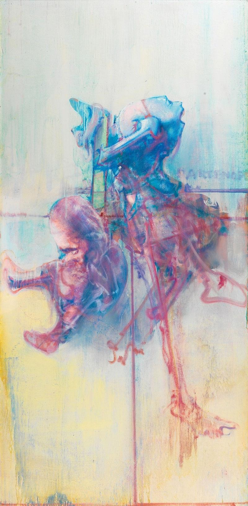 Dado's painting: Partenope, 1990-1991