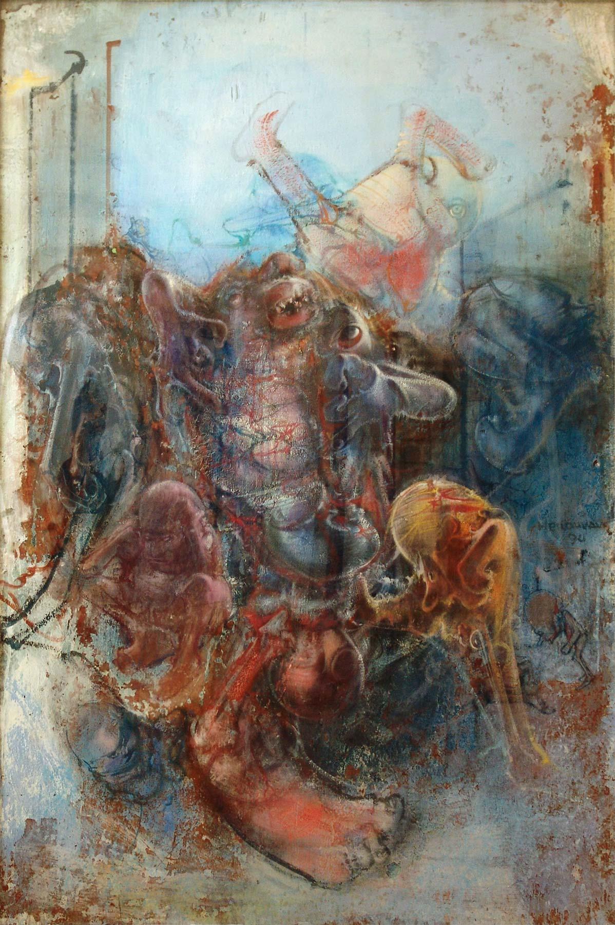 Dado's painting: Portrait of Handel, 1990