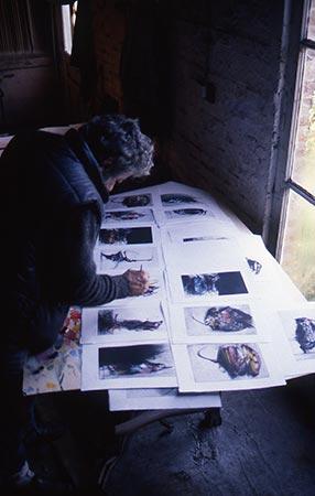 "Dado in 1986 embellishing engravings from the ""Buffon"" series"