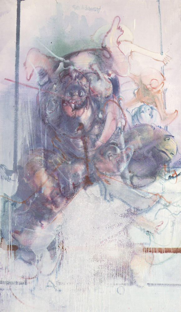 Dado's painting: Project for Répons by Pierre Boulez