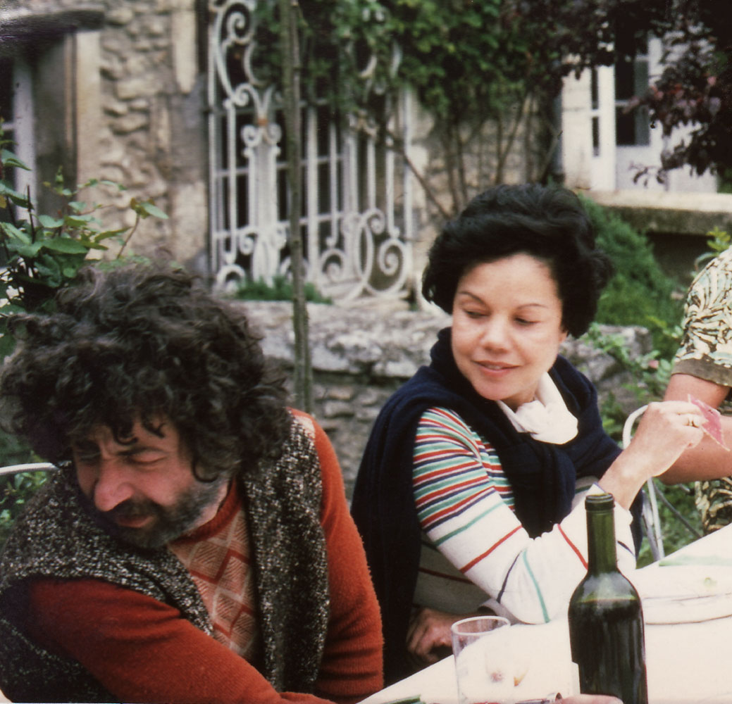 Dado and Alice Bellony-Rewald at Hérouval c. 1975.