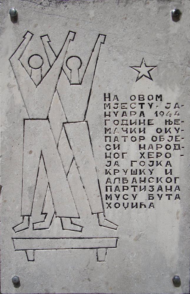 Commemorative plaque (Cetinje)