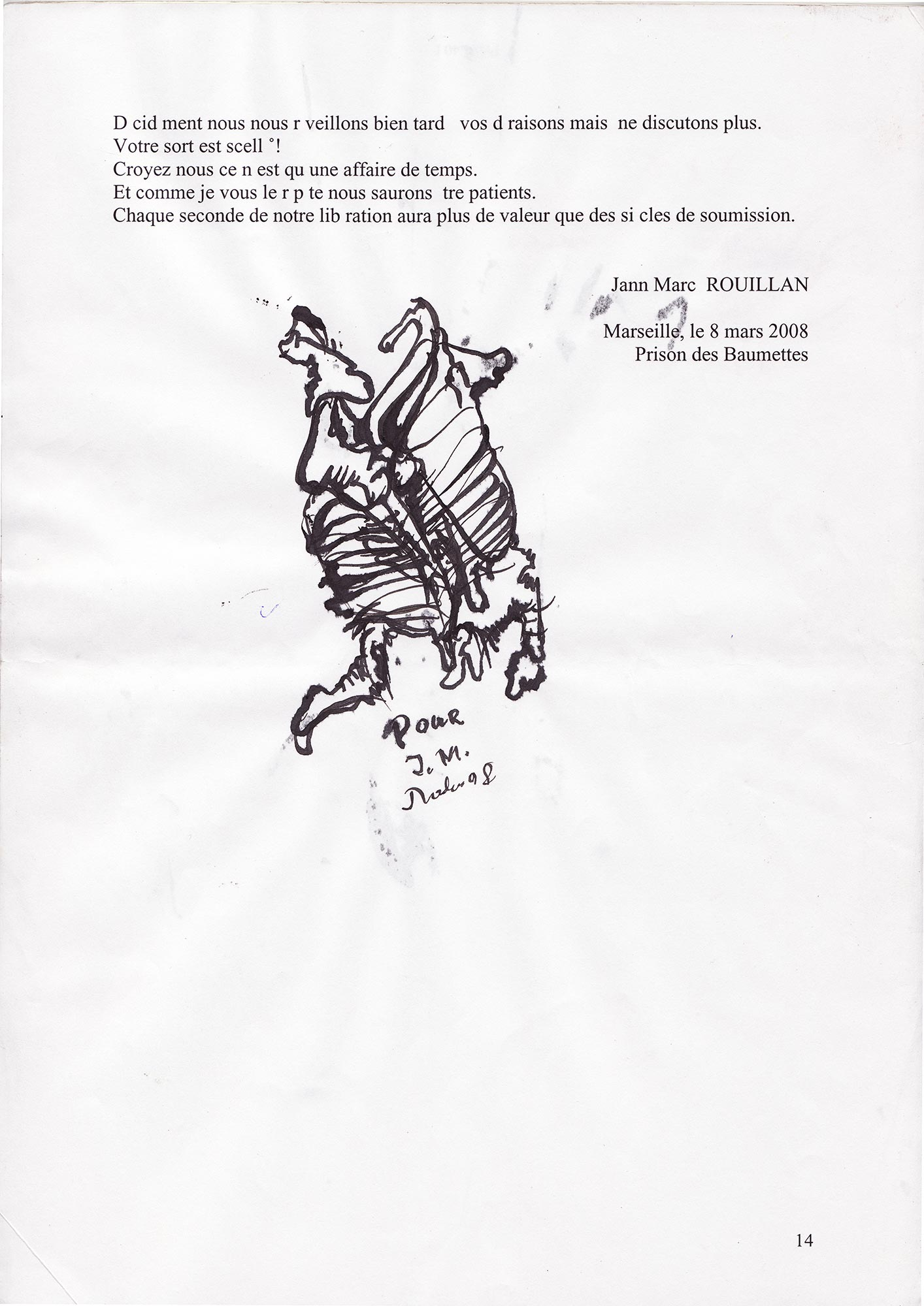 Jann-Marc Rouillan's manuscript - Page 14