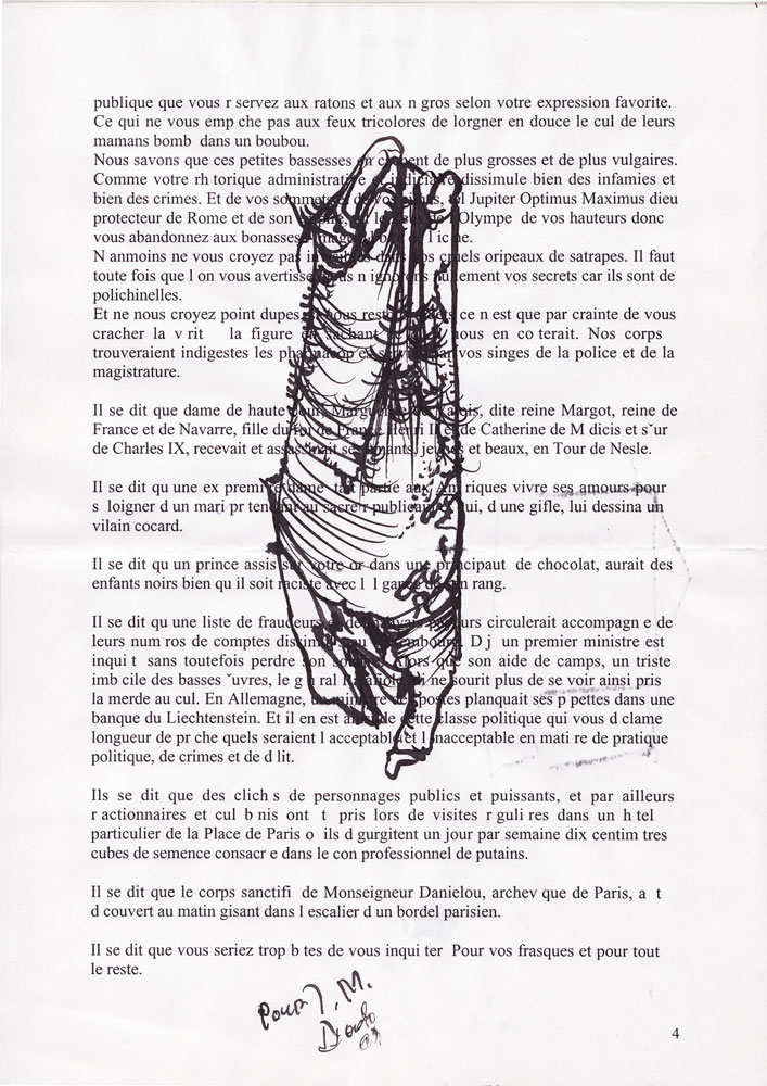 Jann-Marc Rouillan's manuscript - Page 4