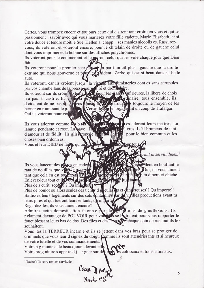 Jann-Marc Rouillan's manuscript - Page 5