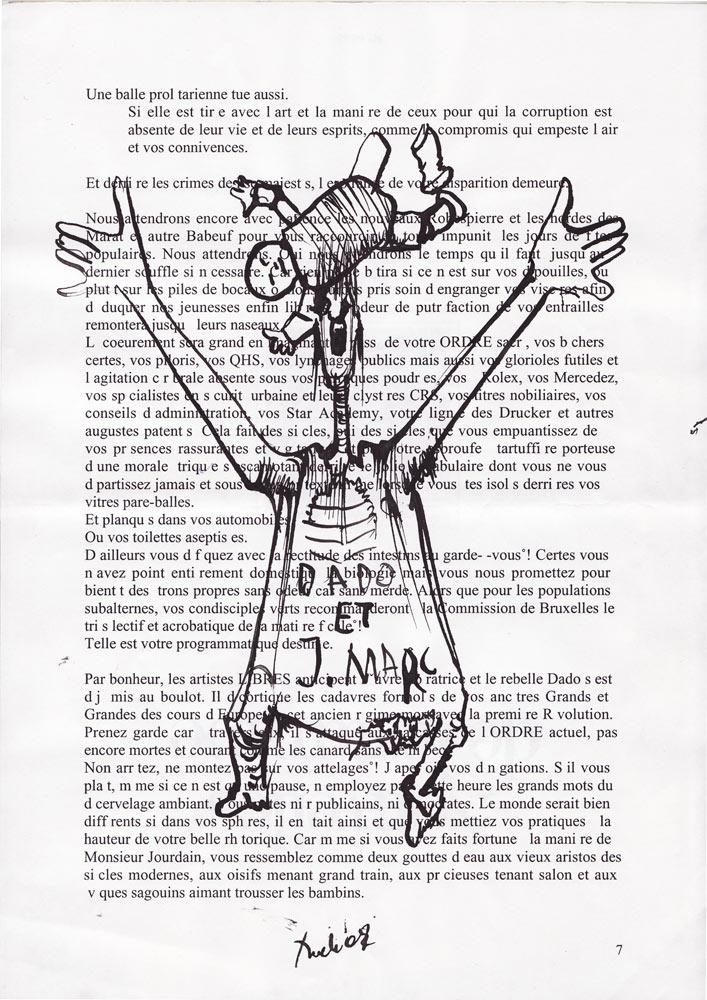 Jann-Marc Rouillan's manuscript - Page 7