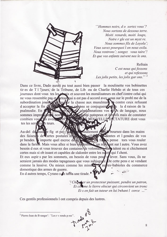 Jann-Marc Rouillan's manuscript - Page 8