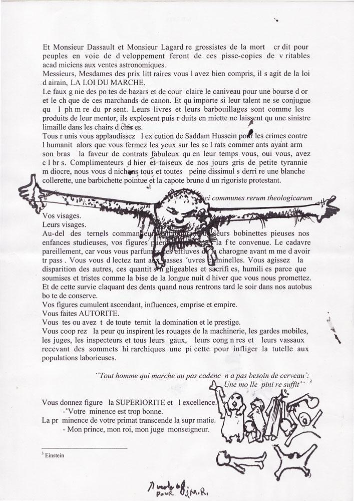 Jann-Marc Rouillan's manuscript - Page 9