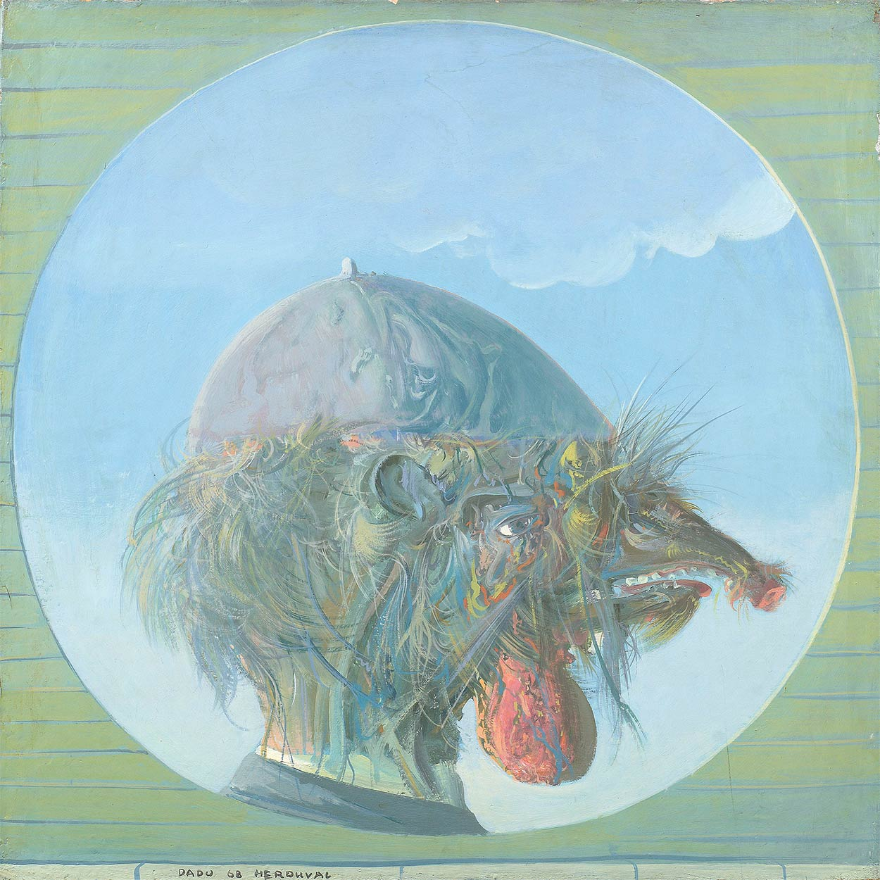 Dado's painting: Untitled, 1968
