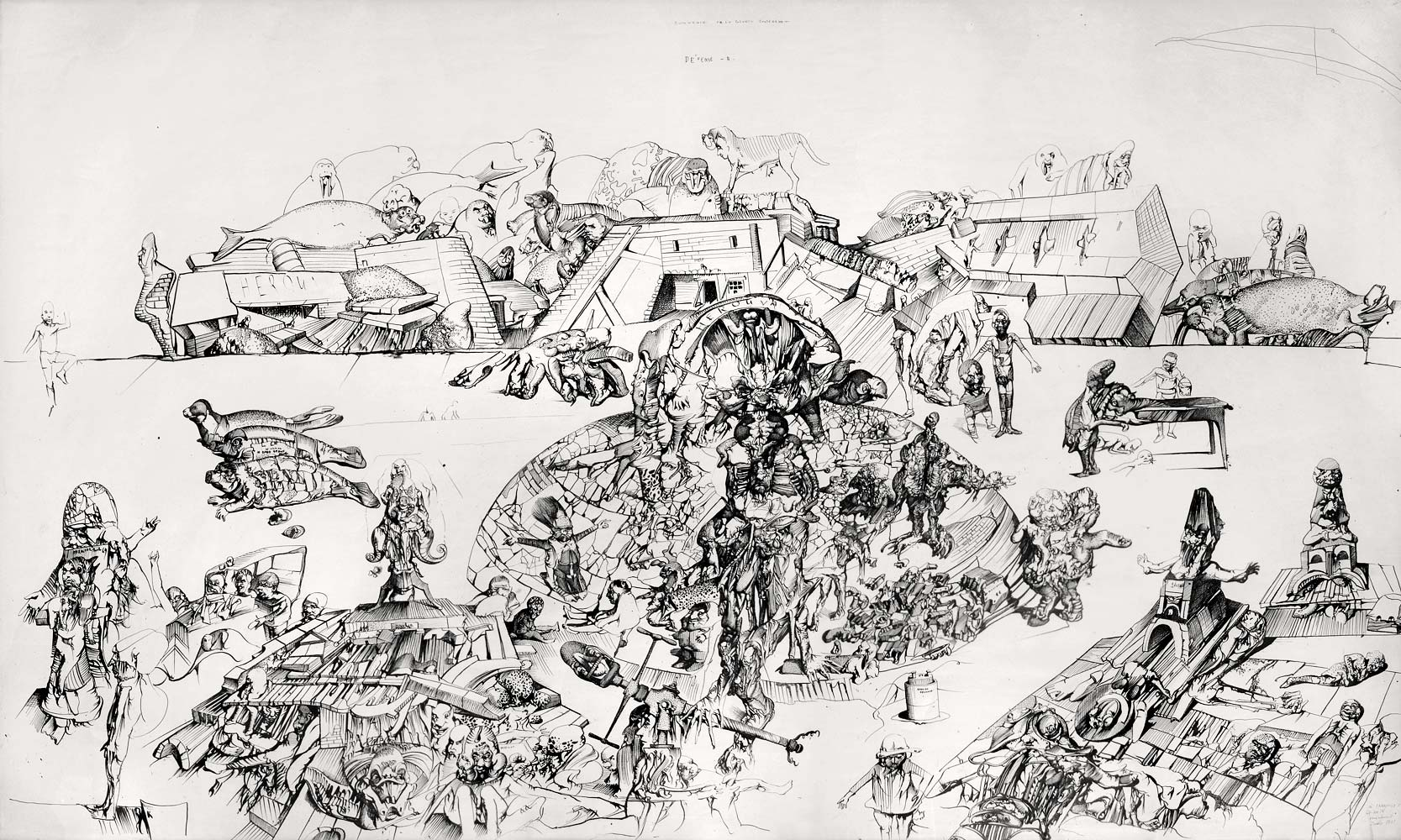 Souvenir de la guerre souterraine, 1971 - Dessin de Dado ...