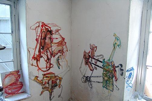 Istočni zid ateljea od keramike u Eruvalul