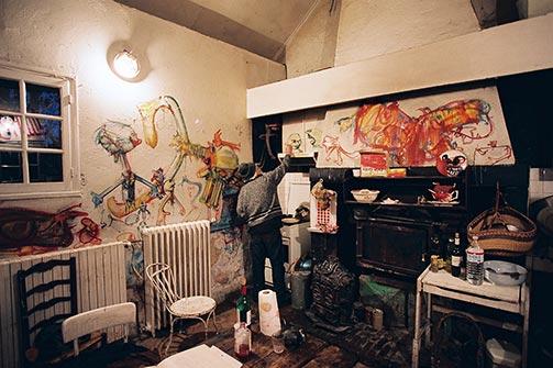 Sjeverni zid kuhinje u Eruvalu