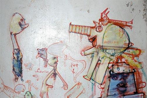 Zapadni zid kuhinje u Eruvalu