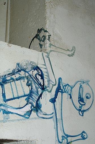 Mur sud de la cuisine d'Hérouval