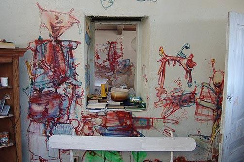 Južni zid kuhinje u Eruvalu