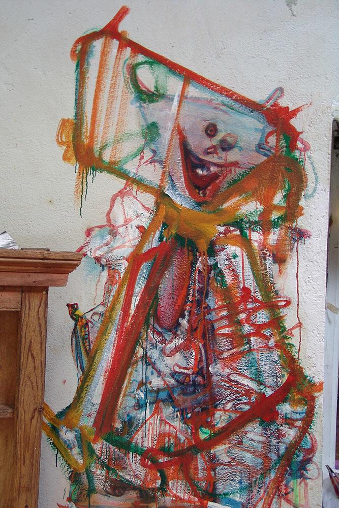 cuisine mur sud peintures murales d h rouval l anti mus e virtuel de l artiste dado. Black Bedroom Furniture Sets. Home Design Ideas