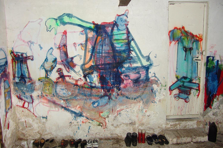 la pi ce de loita mur sud peintures murales d h rouval l anti mus e virtuel de l artiste dado. Black Bedroom Furniture Sets. Home Design Ideas