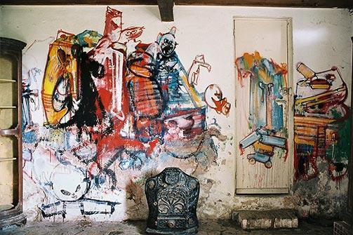 Mur sud de la pièce de Loita à Hérouval