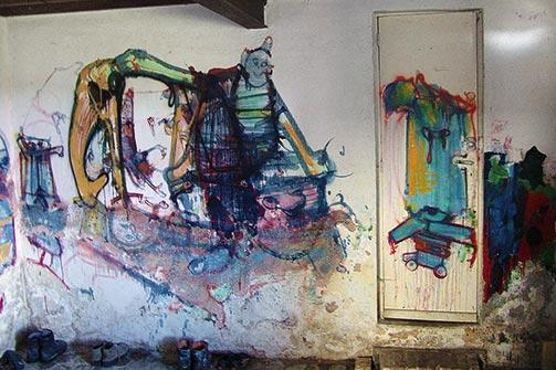 Južni zid Lolitine prostorije u Eruvalu
