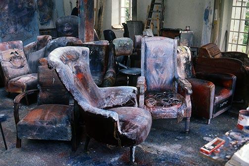 Dado's studio in 1987